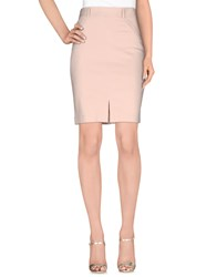 List Skirts Knee Length Skirts Women Beige
