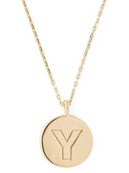 Theodora Warre Y Charm Gold Plated Necklace Gold
