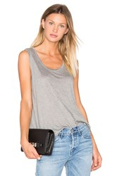Alexander Wang Classic Low Neck Flared Tank Gray