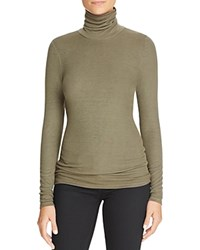 Three Dots Ribbed Turtleneck Sweater Sprig