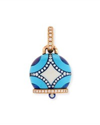 Chantecler Maiolica Diamond And Turquoise Campanella Pendant