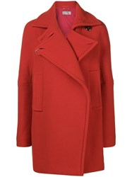 Sportmax Single Breasted Coat Red