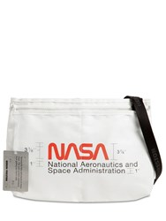 Heron Preston Nasa Print Nylon Crossbody Bag Off White