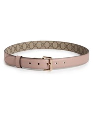 Gucci Reversible Leather Belt Pink