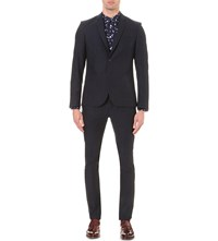Paul Smith Pinstripe Wool Blazer Navy
