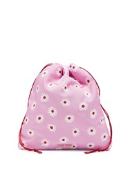 Miu Miu Daisy Print Drawstring Make Up Bag Pink Multi