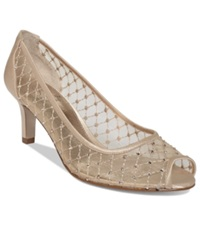 Adrianna Papell Jamie Evening Pumps Women's Shoes Nude