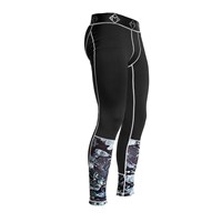 Masterclass Apparel Gray Camouflage Compression Tights Black Grey Silver