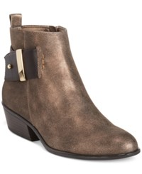 White Mountain Limerick Ankle Booties Women's Shoes Bronze