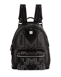 Mcm Stark Gunta Medium Studded Backpack Black