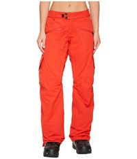 686 Mistress Insulated Cargo Pants Lava Women's Casual Pants Red