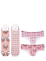 Homely Printed Cotton Socks And Brief Set