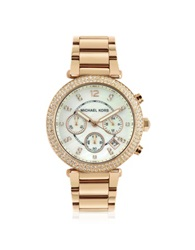 Michael Kors Glitz Top Chronograph Watch Gold