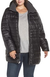 Marc New York Plus Size Removable Hood Puffer Coat