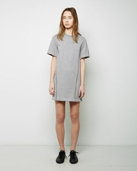 3.1 Phillip Lim Crepe De Chine Seamlines Sweatshirt Dress Heather Grey