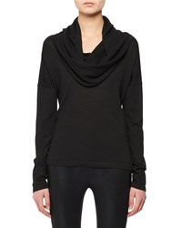 Tom Ford Hooded Cowl Neck Cashmere Silk Knit Sweater Black
