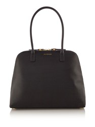 Lulu Guinness Bobbi Large Grainy Leather Tote Black