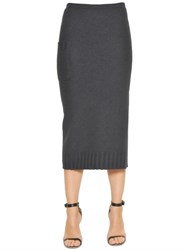 Gentryportofino Boiled Wool Knit Skirt
