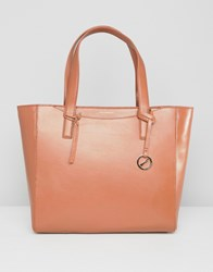 Paul Costelloe Real Leather Structured Tote Tan