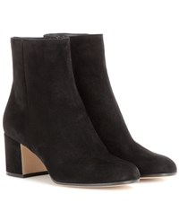 Gianvito Rossi Margaux Suede Ankle Boots Black