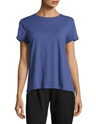 Eileen Fisher Petite Textured Cotton Tee Blang