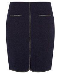 Nougat London Nougat Short Boiled Wool Skirt Navy