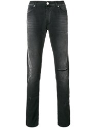Versace Jeans Slim Fit Jeans Cotton Spandex Elastane Black