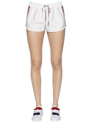 Moncler Gamme Rouge Cotton And Silk Twill Shorts