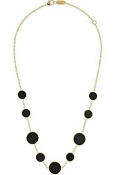 Ippolita Polished Rock Candy 18 Karat Gold Onyx Necklace One Size