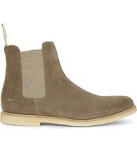 Common Projects Suede Chelsea Boots Taupe Suede Crepe
