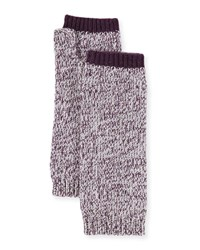 Sofia Cashmere Marled Fingerless Gloves Arm Warmers Plum
