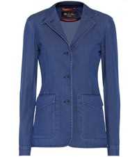 Loro Piana Kelsey Cotton Blazer Blue