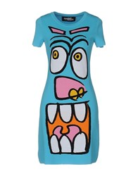 Jeremy Scott Short Dresses Azure