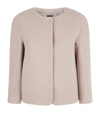 Peserico Asymmetrical Wool Jacket Female Neutral