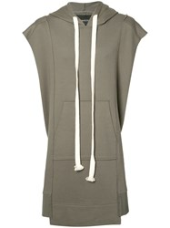 Bmuette Bmuet Te Oversized Sleeveless Hoodie Green