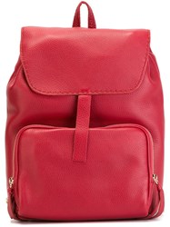 Zanellato Leather Backpack Red