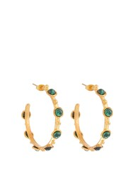 Sylvia Toledano Candies Small Gold Plated Earrings Green Gold