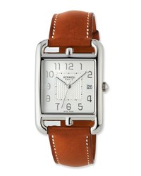 Herm S Cape Cod Tgm Watch With Barenia Leather Strap
