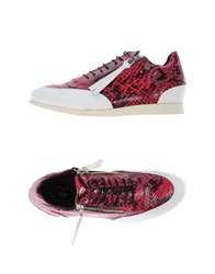 Bb Washed By Bruno Bordese Low Tops And Trainers Garnet