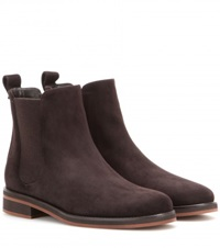 Loro Piana Montrond Suede Chelsea Boots Brown