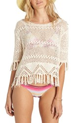 Billabong Women's Wild One Open Stitch Sweater