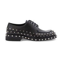 Prada Leather Derby Shoes Nero