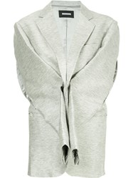 Moohong Sleeve Detail Vest Grey