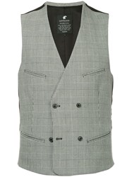 Loveless Double Breasted Waistcoat Grey
