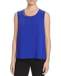T Tahari Angelica Embellished Sleeveless Top Radiance