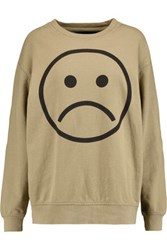Marc By Marc Jacobs Printed Cotton Jersey Sweatshirt Army Green