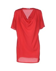 Kangra Cashmere Shirts Blouses Women Brick Red