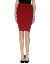 Imperial Star Imperial Knee Length Skirts Red