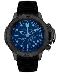 Nautica Men's Black Silicone Strap Watch 50Mm Nad52500g No Color