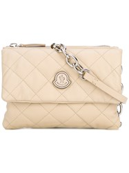 Moncler 'Poppy' Satchel Bag Nude Neutrals